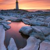 NMP5096 - Peggy's Cove Lighthouse at dusk - Peggy's Cove Nova Scotia by Darwin Wiggett