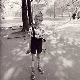 Child with a toy hand grenade in Central Park, N.Y.C. - 1962