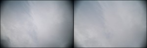 This is mechanical vignetting due to too many filters in front of the lens. Shot at left at F2.8. Stopping down to F 5.6 helps slightly. A better solution here is to simply use less filters.