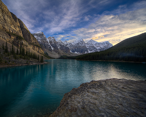 On the Rocks, Moraine Lake by Royce Howland