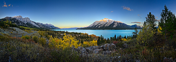 Fall at Abraham Lake by Royce Howland
