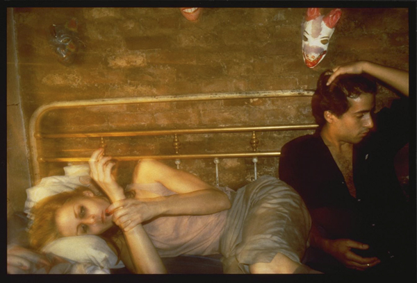 Greer and Robert on the bed, NYC 1982