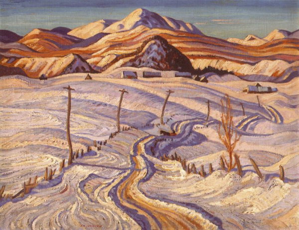 A.Y. Jackson - Winter Charlevoix County - 1932-33