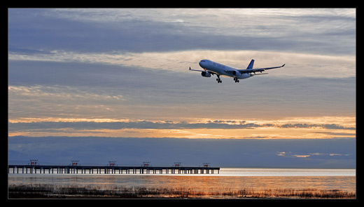 Sunset landing by Michael Wollen