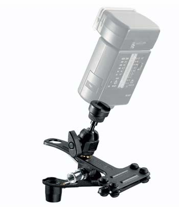 Manfrotto spring clamp with flash mount
